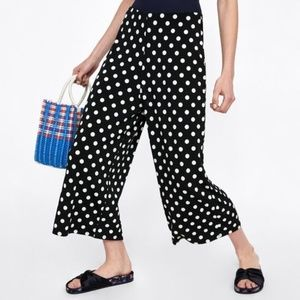 ZARA Collection | Polka dot culotte Pants M